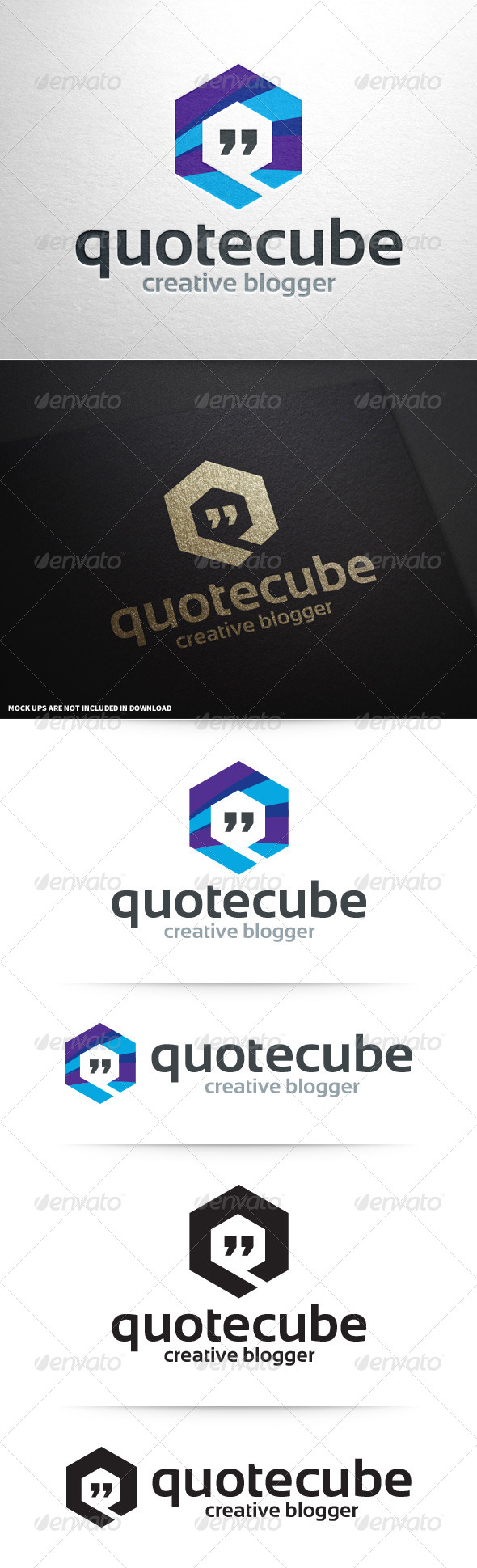 GraphicRiver Quote Cube Logo Template 8701275