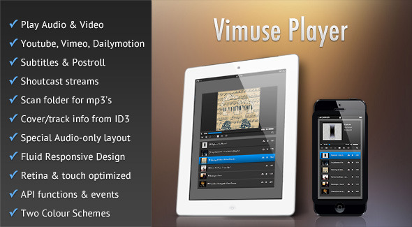 Vimuse - HTML5 Media Player - CodeCanyon Item for Sale