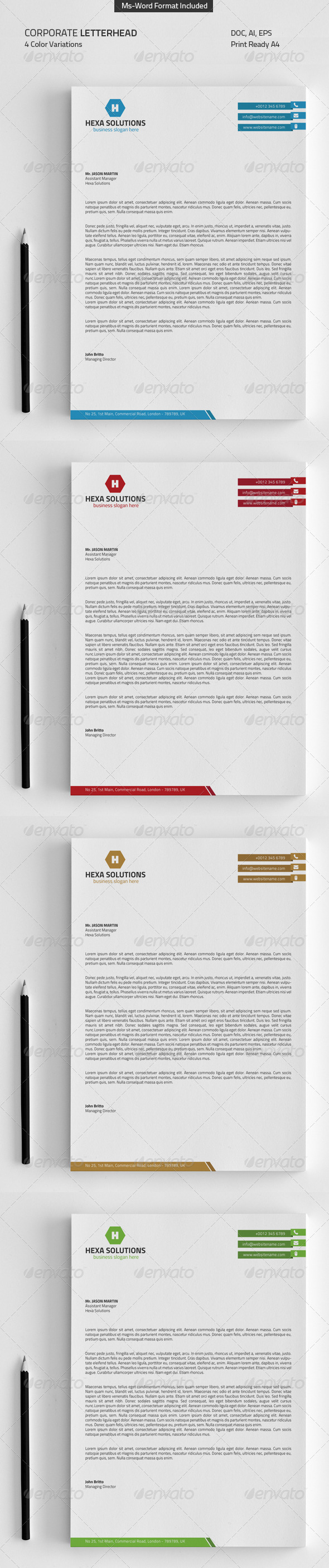 GraphicRiver Letterhead with Ms-Word 8706067