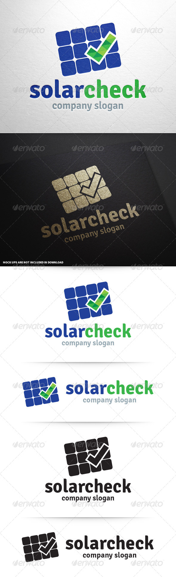 GraphicRiver Solar Check Logo Template 8708646