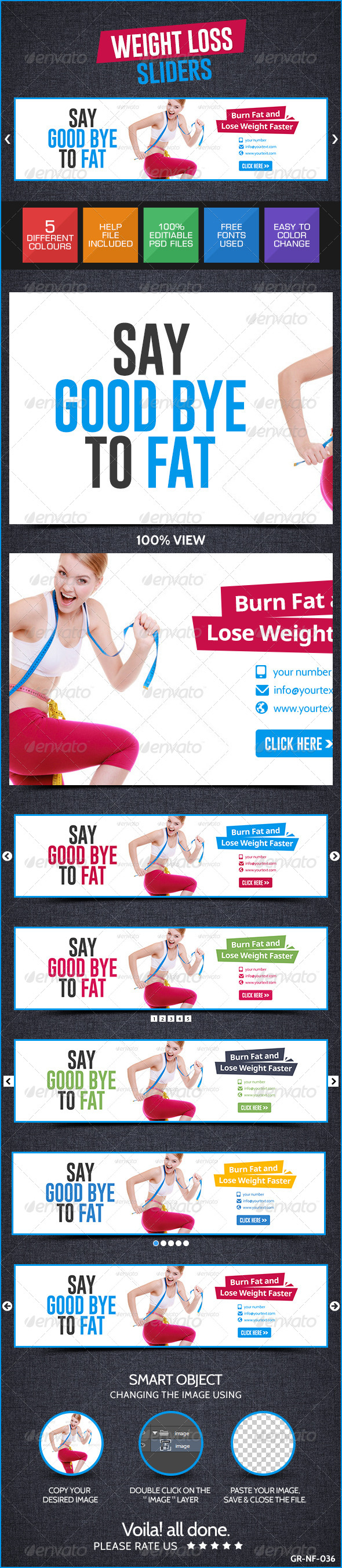 GraphicRiver Weight Loss Web Sliders 8711320