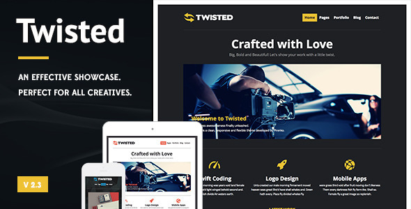 Twisted - Showcase Wordpress Theme - Creative WordPress