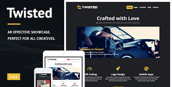 Twisted - Showcase Wordpress Theme