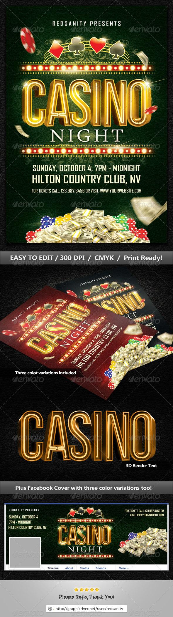 GraphicRiver Casino Night Flyer 8711464