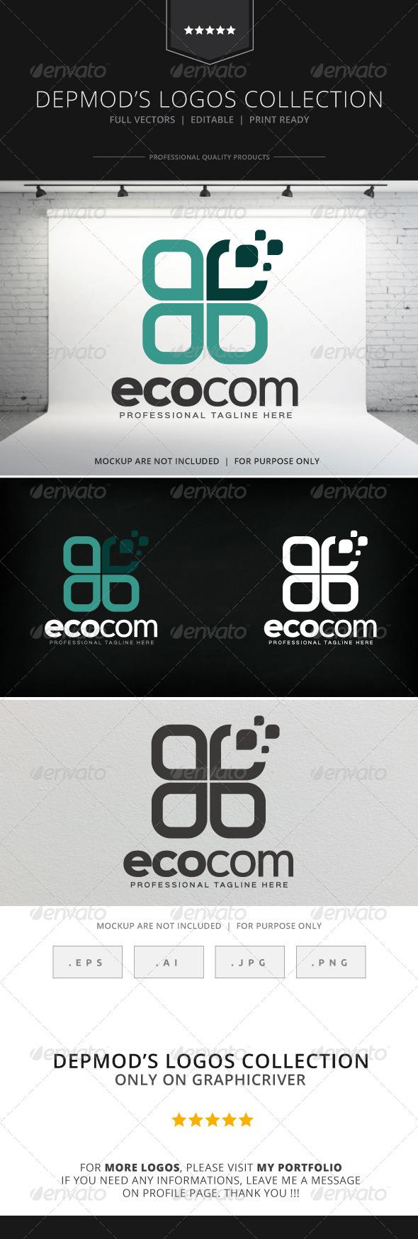 GraphicRiver Ecocom Logo 8711487