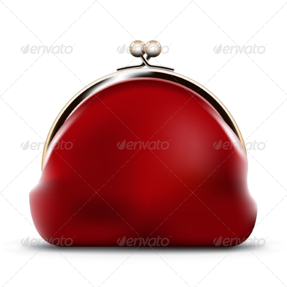 GraphicRiver Red Purse 8711573