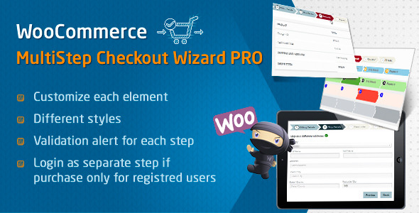 WooCommerce MultiStep Checkout Wizard PRO - CodeCanyon Item for Sale