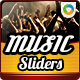 Music Event Web Sliders - GraphicRiver Item for Sale