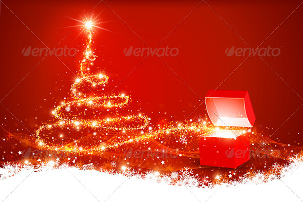 GraphicRiver Christmas Background 8640665