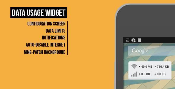 CodeCanyon Data Usage Widget 8660983