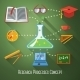 Flat Concept of Research, Education Processes - GraphicRiver Item for Sale
