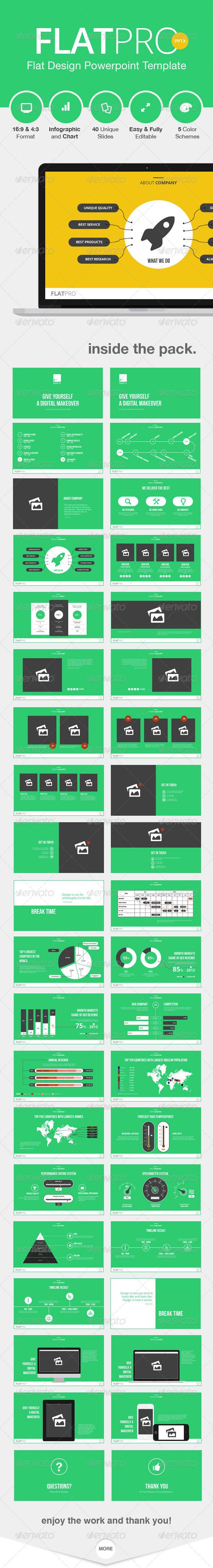 GraphicRiver FlatPro Powerpoint Presentation Template 8676443