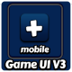 Mobile Game UI User Interface V3 - White Frame - GraphicRiver Item for Sale