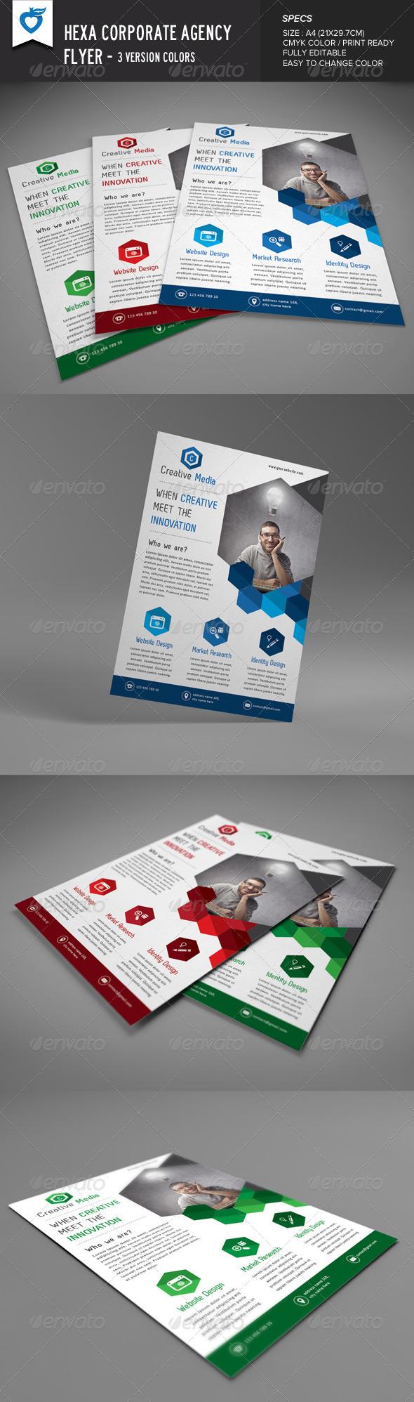 GraphicRiver Hexa Corporate Agency Flyer 8712550