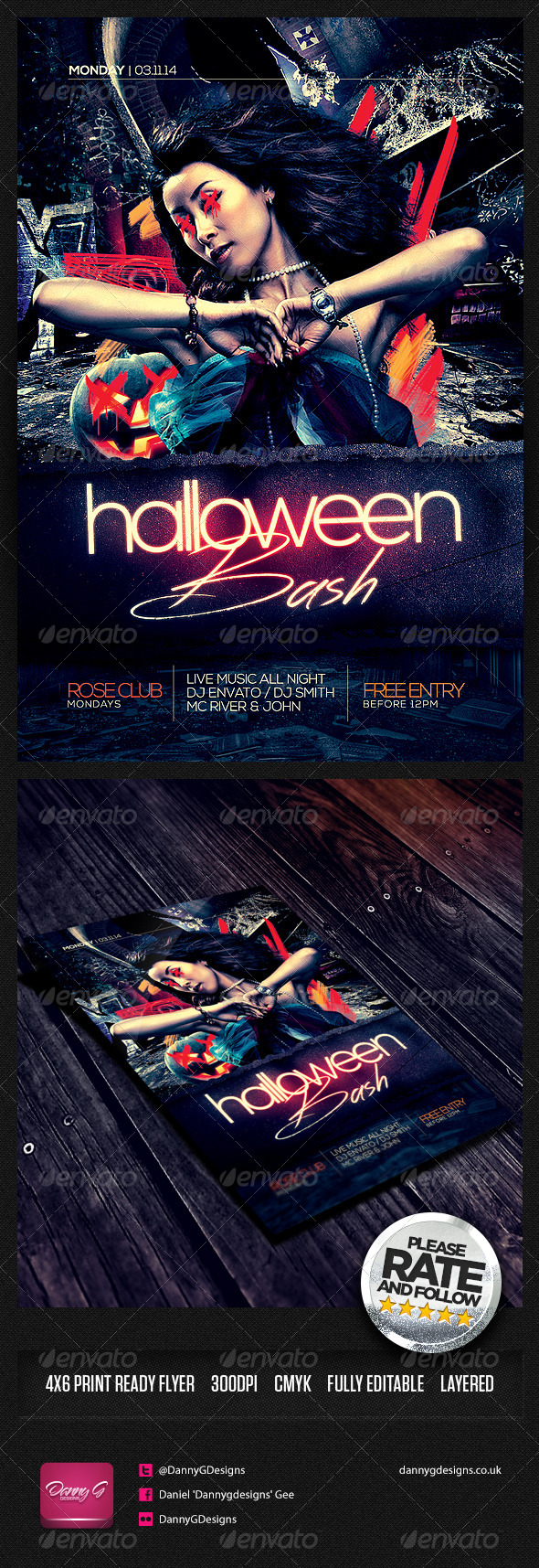 GraphicRiver Halloween Bash Flyer Template PSD 8712563