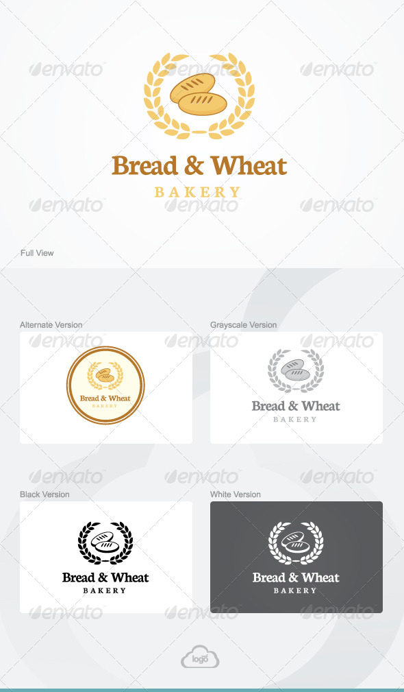GraphicRiver Bread & Wheat Logo Template 8712569