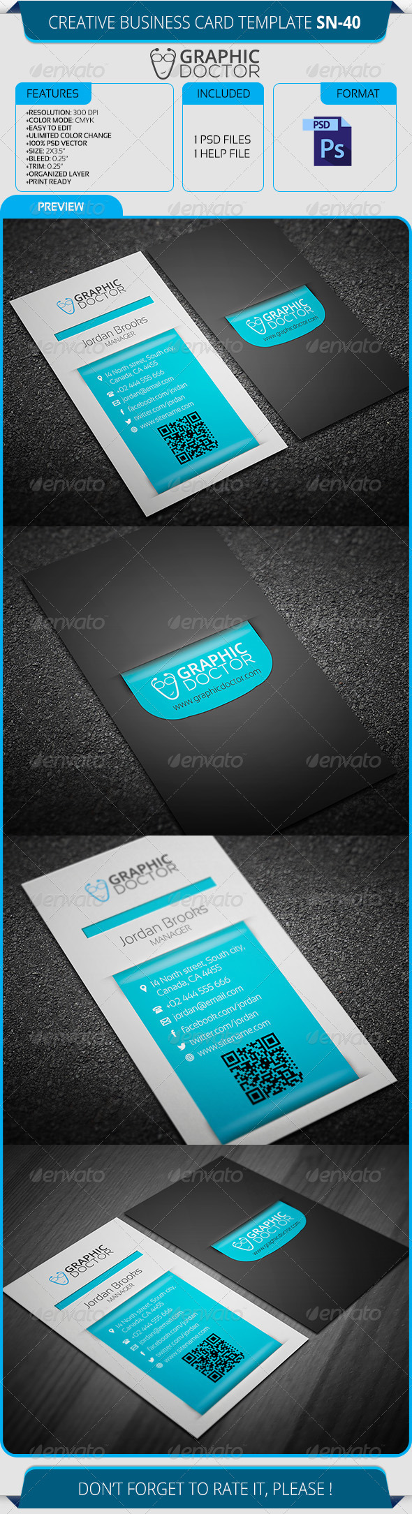 GraphicRiver Creative Business Card Template SN-40 8712617