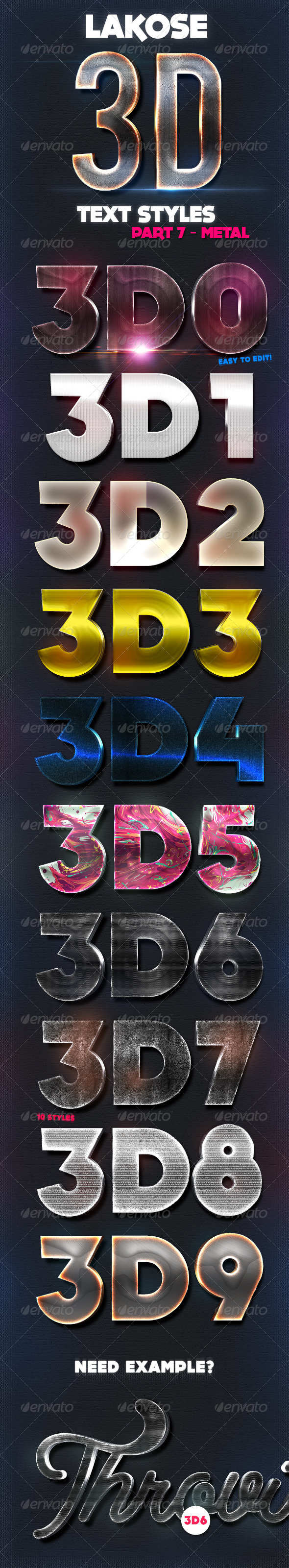 GraphicRiver Lakose 3D Text Styles Part 7 8712661
