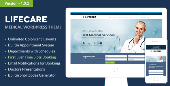 LifeCare - Responsive Medical Wordpress Theme - Health & Beauty Retail