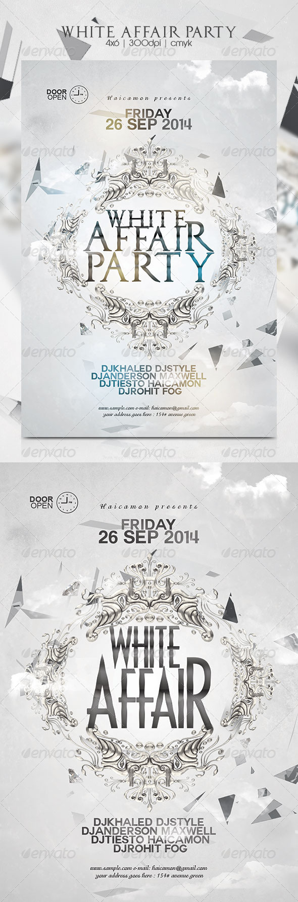 GraphicRiver White Affair Party Flyer 8712714