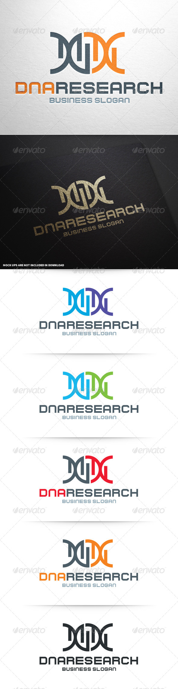 GraphicRiver DNA Research Logo Template 8713021