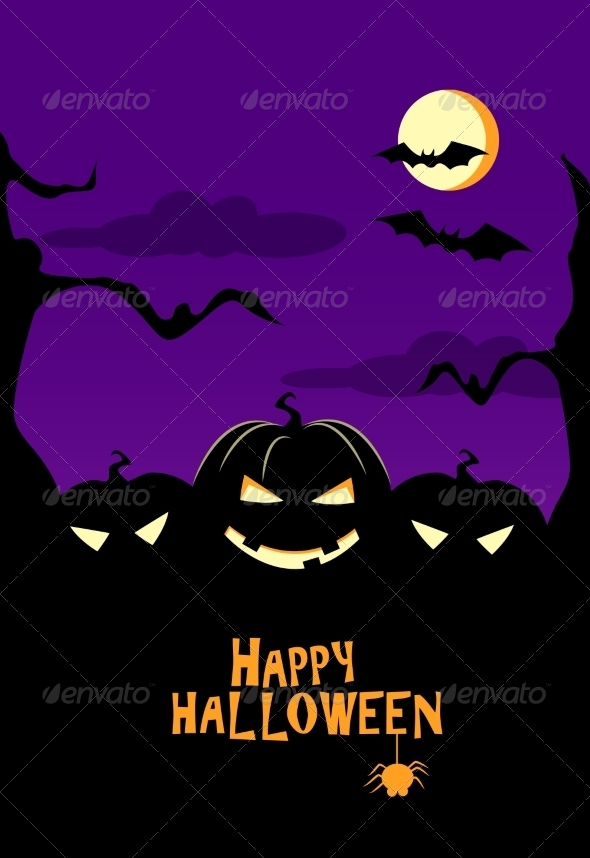GraphicRiver Happy Halloween Vector Illustration 8713068