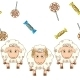 Cartoon Sheep with Candy - GraphicRiver Item for Sale