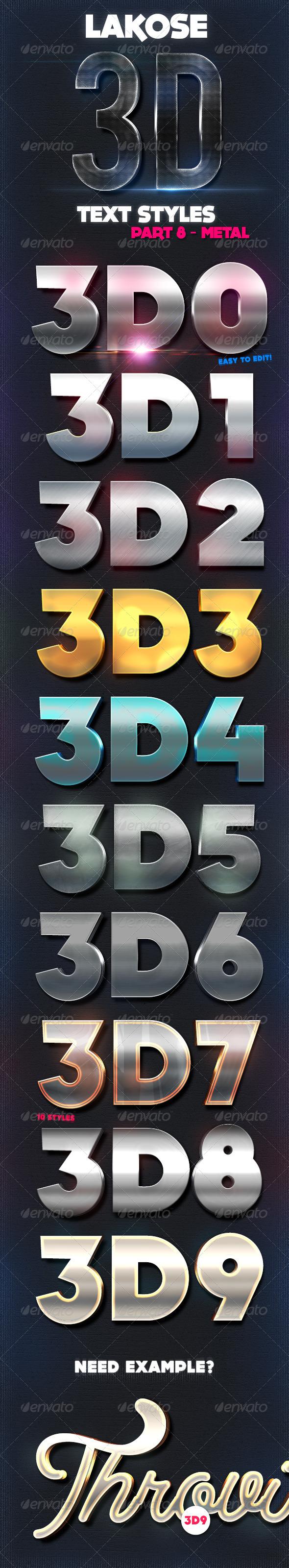 GraphicRiver Lakose 3D Text Syles Part 8 8713267
