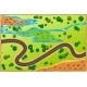 Cartoon Map with Road and Nature Around - GraphicRiver Item for Sale
