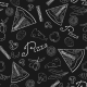 Seamless Pattern of Hand-Drawn Pizza - GraphicRiver Item for Sale
