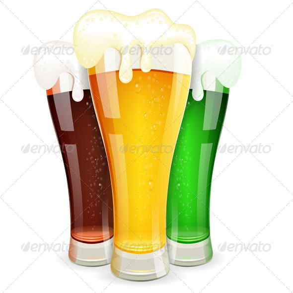 GraphicRiver Glasses of Beer 8713396