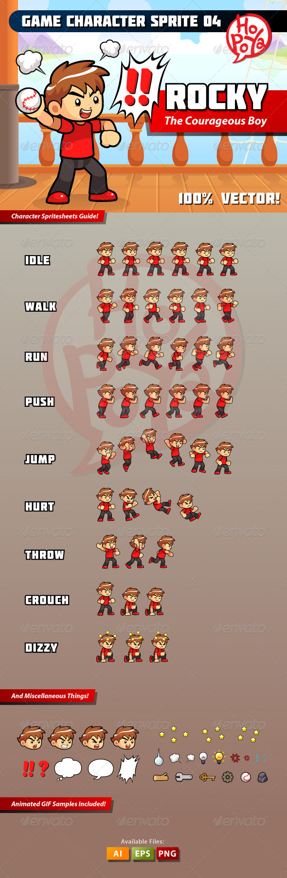 GraphicRiver Game Character Sprite 04 8713399