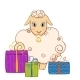 Cartoon Sheep with Gifts - GraphicRiver Item for Sale