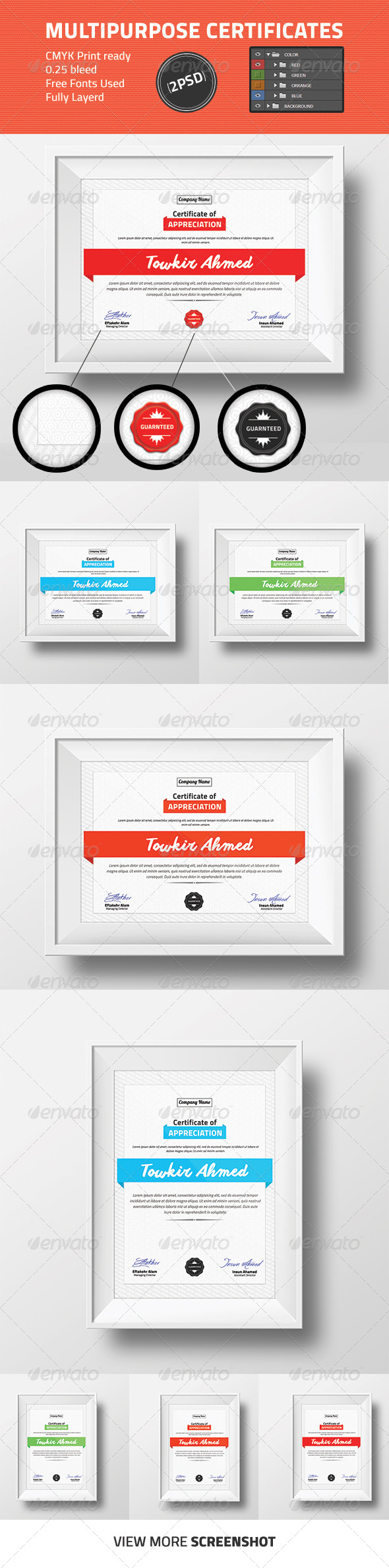 GraphicRiver Multipurpose Certificate Design 8713503