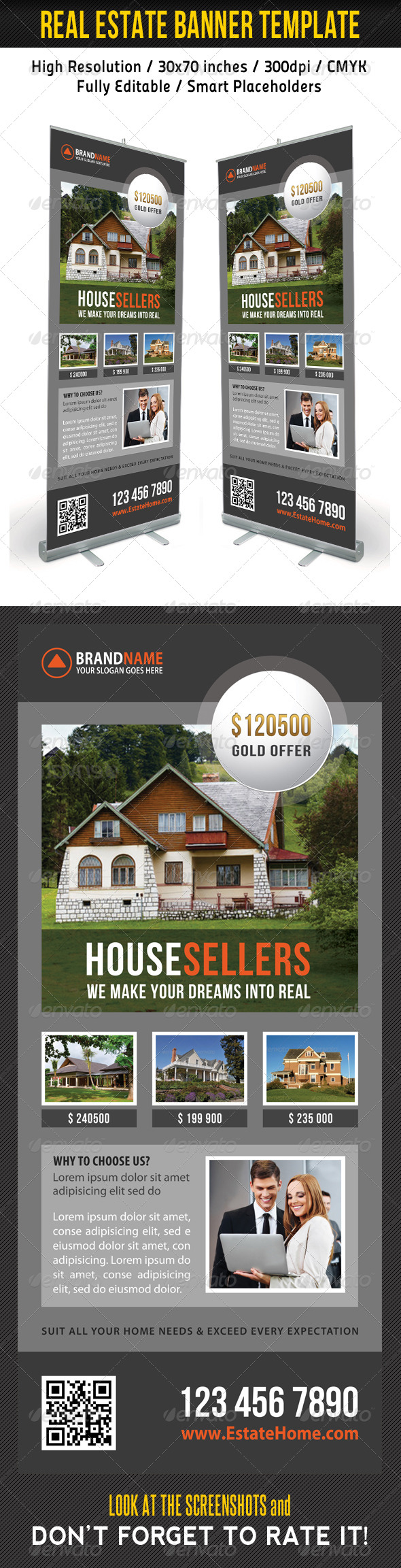 GraphicRiver Real Estate Banner Template 14 8713498