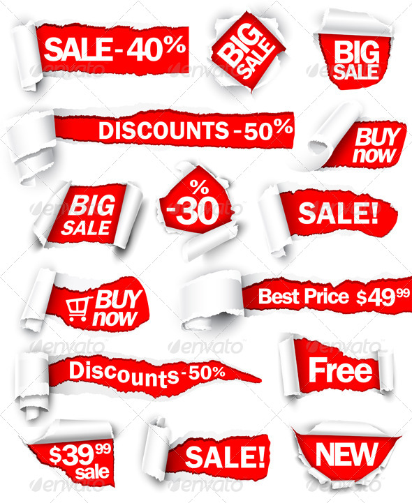 GraphicRiver Collection of Red Paper 8713574