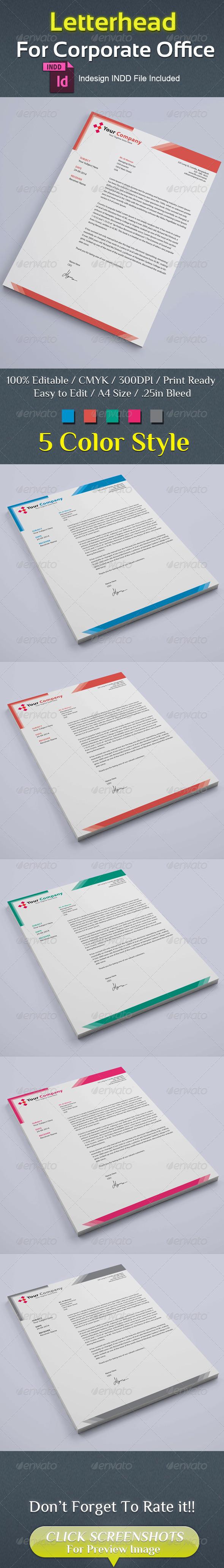 GraphicRiver Corporate Letterhead 8688978