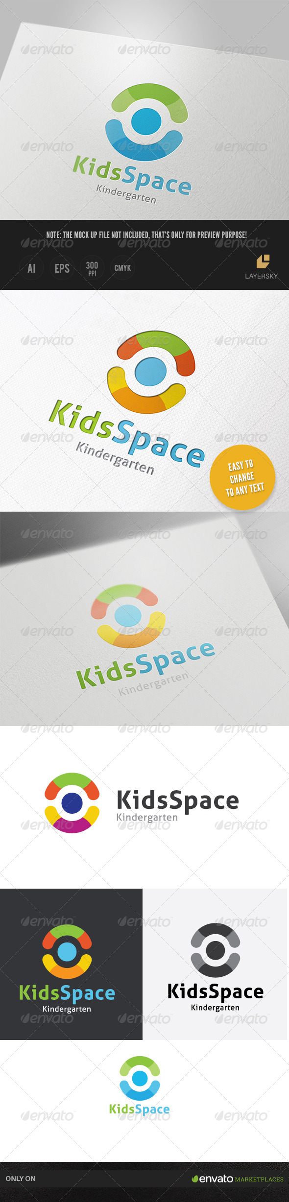 GraphicRiver Kids Space Logo 8713765