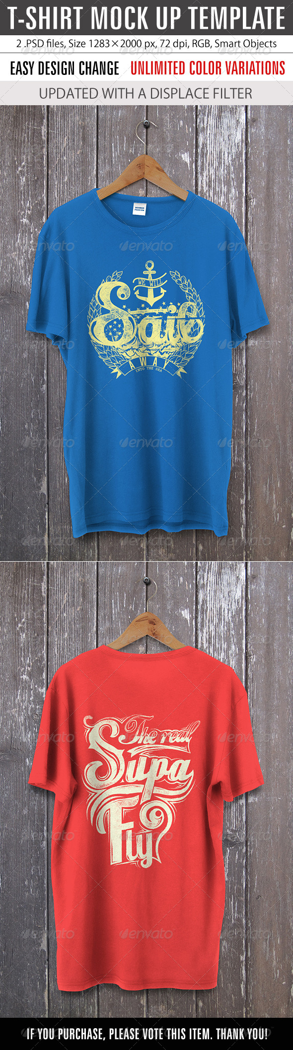 GraphicRiver T-Shirt Mock Up Template 8687277