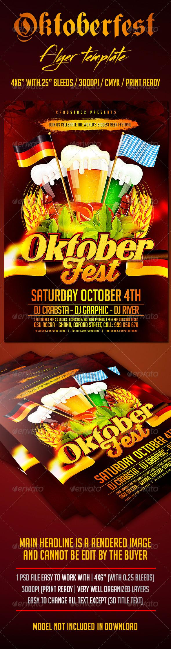 GraphicRiver Oktoberfest Flyer Template 8713903