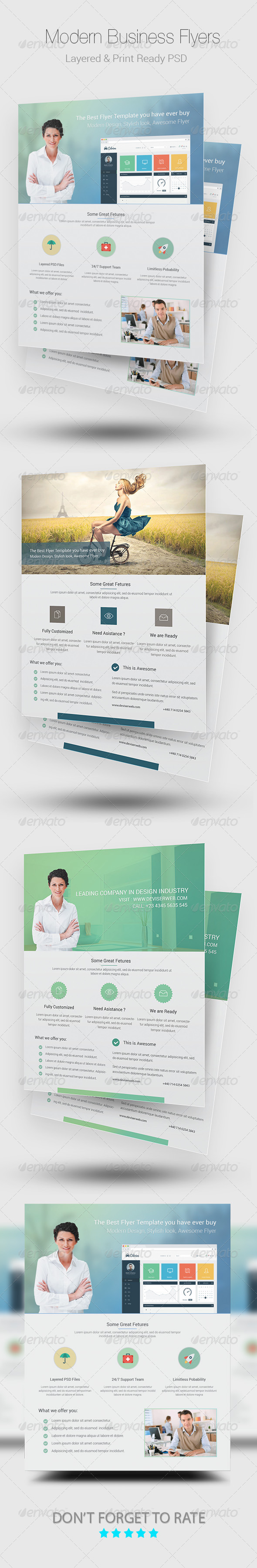 GraphicRiver Modern Business Flyer Templates 8685990