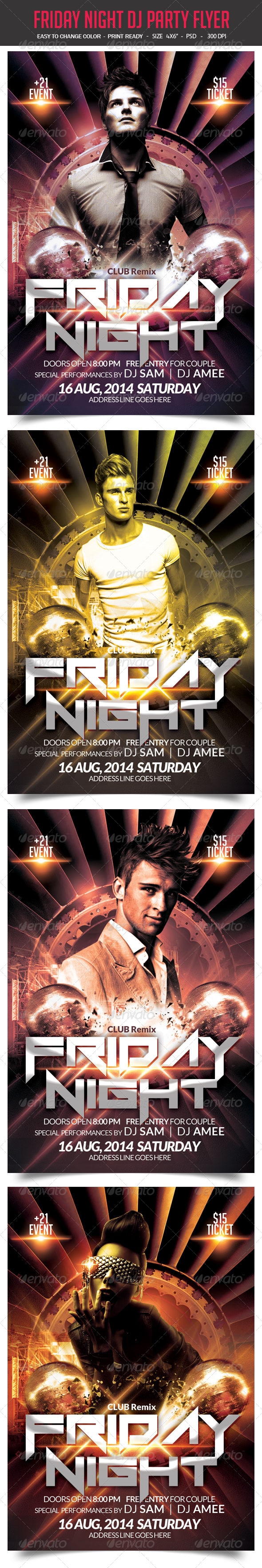 GraphicRiver Friday Night DJ Party Flyer 8713915