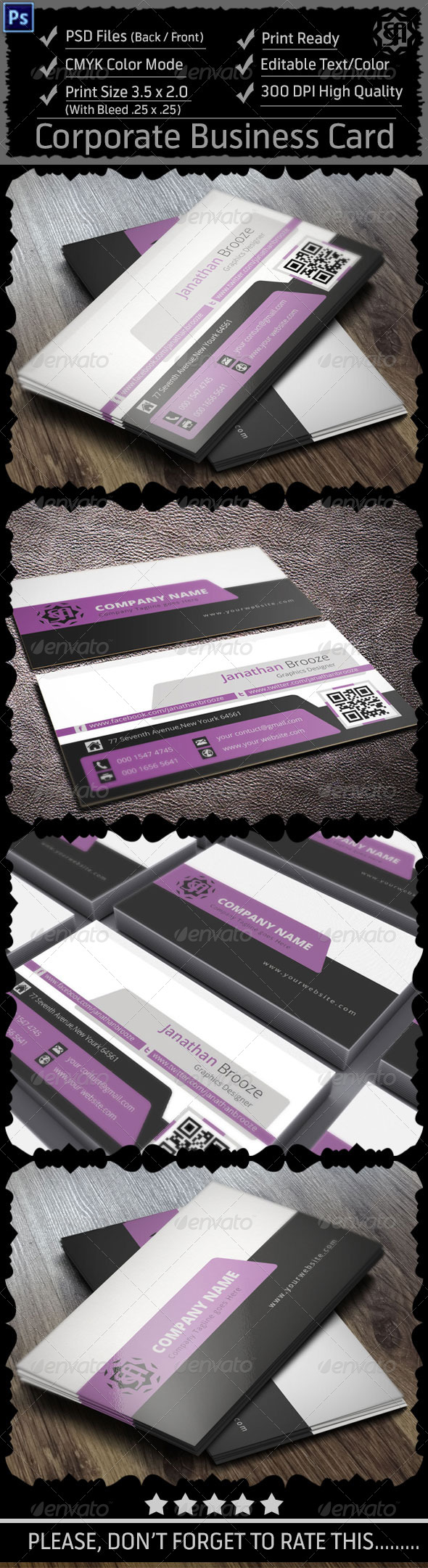 GraphicRiver Colourful Corporate Business Card V17 8714039