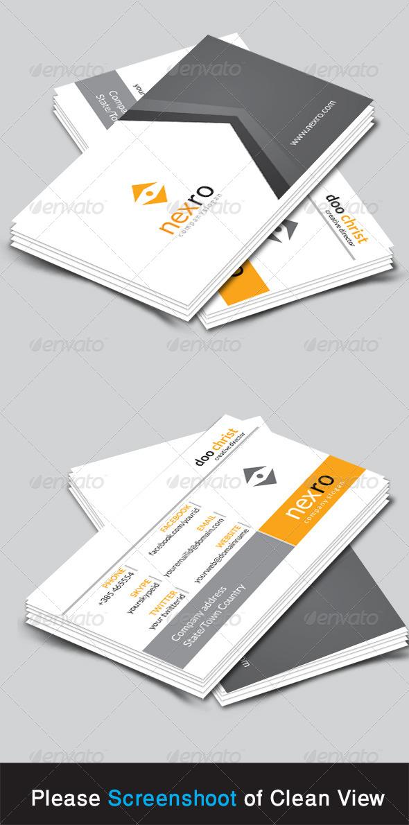 GraphicRiver Nexro Corporate Business Card 8714083