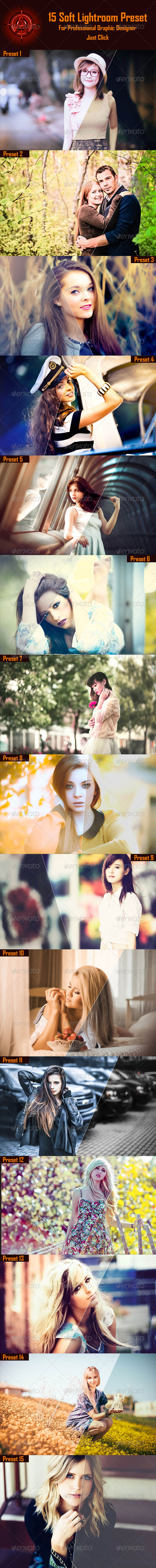 GraphicRiver 15 Soft Lightroom Presets 8714105
