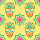 Skull and Lotus Pattern - GraphicRiver Item for Sale