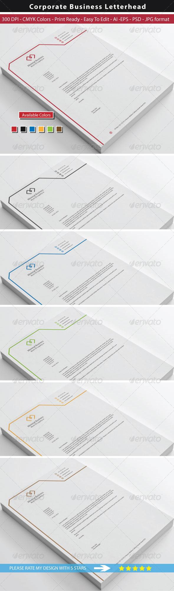 GraphicRiver Minimal Business Letterhead 8714241