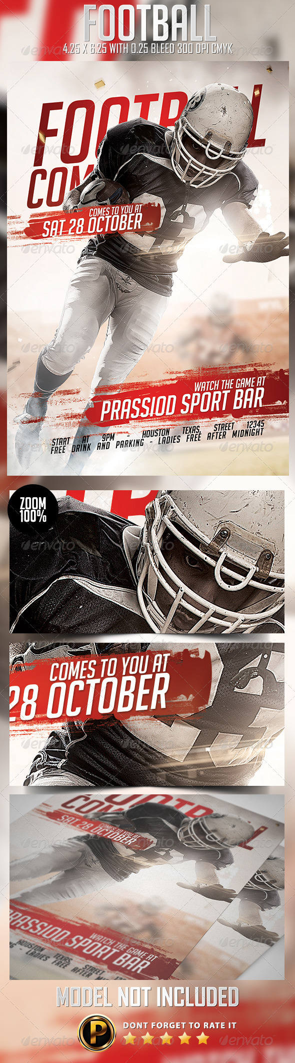 GraphicRiver Football Flyer Template 8714254