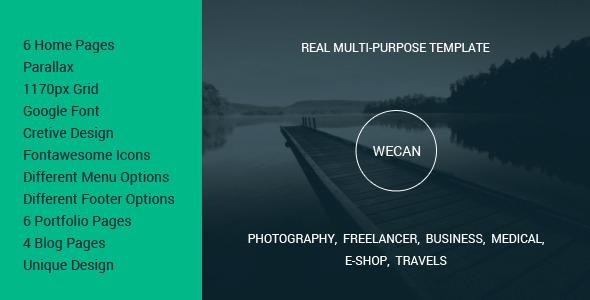 ThemeForest WeCan Multi-Purpose PSD Template 8714265