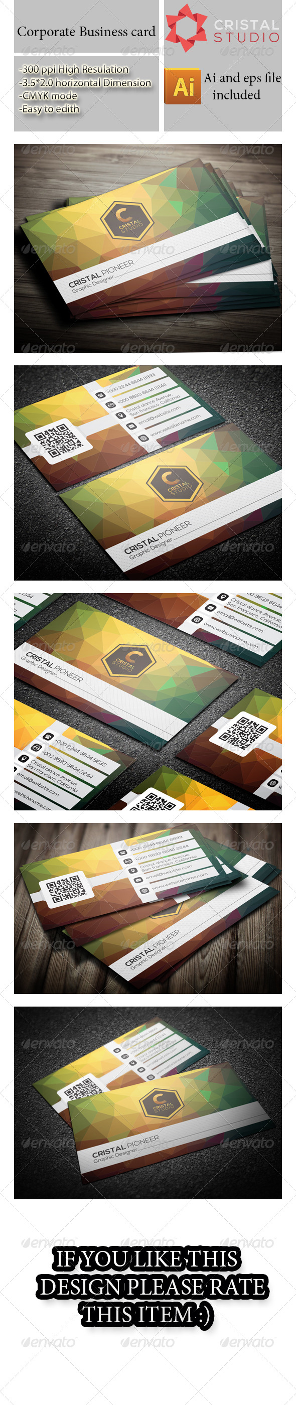 GraphicRiver Nice Corporate Business Card 8714478